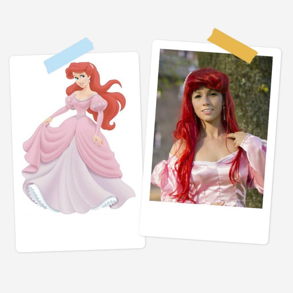 Ariel Pink Dress - Little Mermaid - Animated Film - (selfmade)