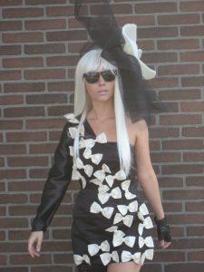 Gaga, de jurk is een eigen ontwerp