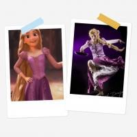 Rapunzel - Tangled - Animated Film - Retired Costume (bought&edited)